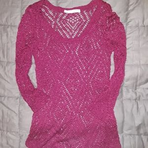 Womens XS Maurices Maroon Thin Sweater